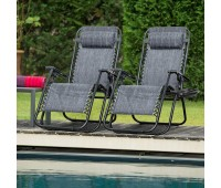 Patio Zero Gravity Chair Outdoor Folding Lounge Chair Recliners Adjustable Lawn